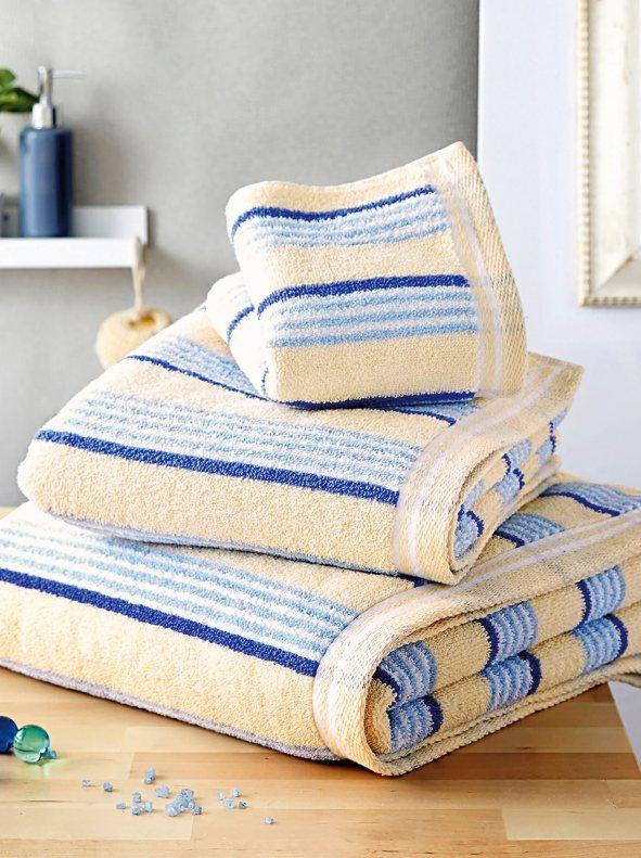 Lote de 3 toallas de rayas 100% algodón