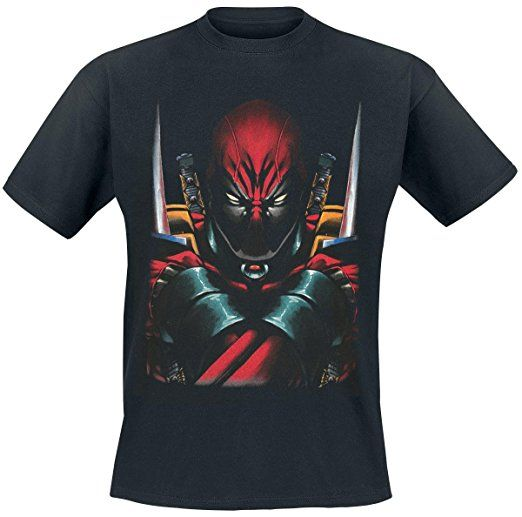 Deadpool Attack Stance T-Shirt schwarz S