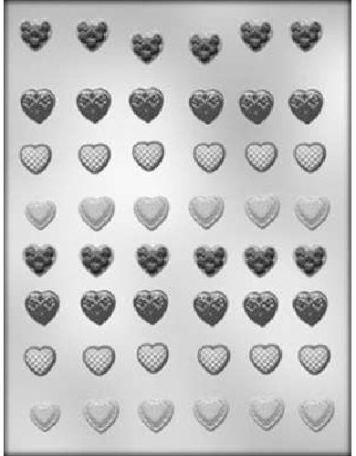 Plastic Sheet Mold Mini Heart Assortment 625 With Images Wedding Mint Molds Mini Heart Mint Molds