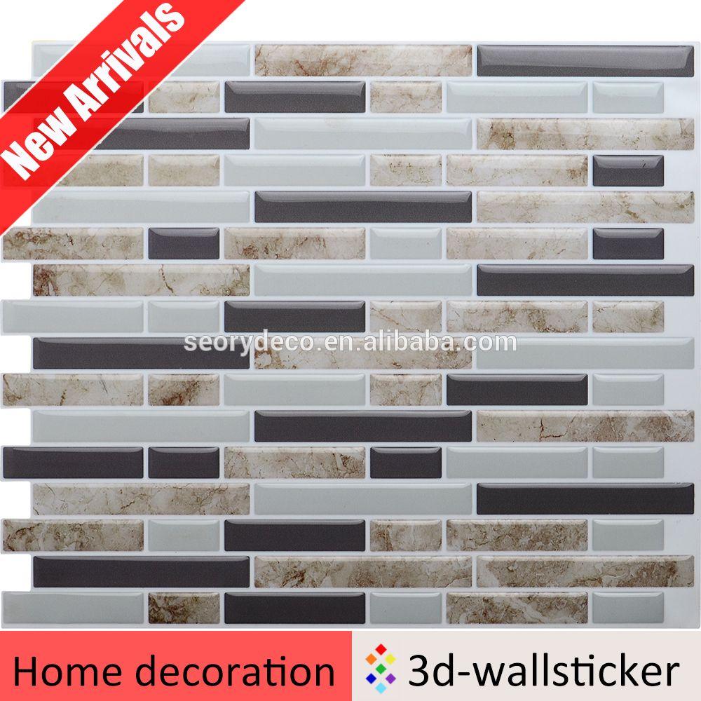 New arrival bathroom wall tile designs self adhesive vinyl wall