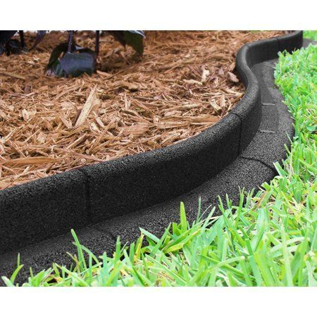 Ecoborder 24 Ft No Dig Landscape Edging Black - Walmart.com