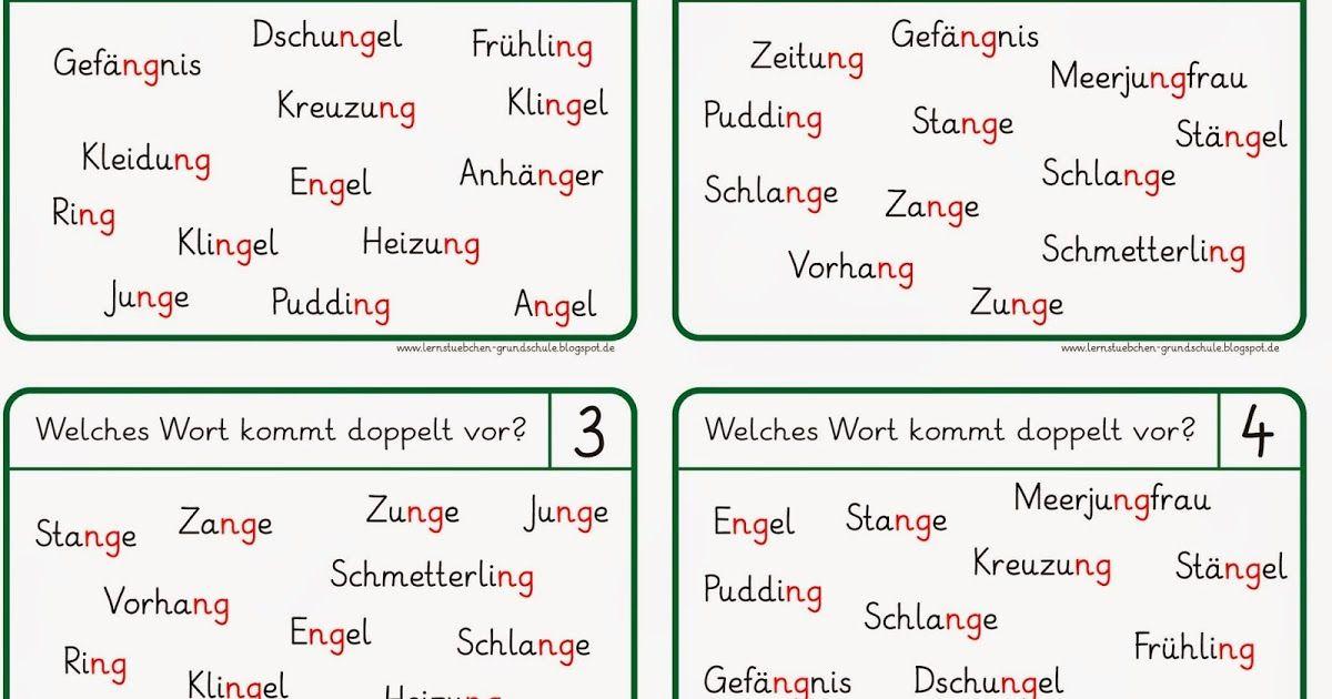 lese und schreibk rtchen zu ng w rtern teacher stuff deutsch and teacher. Black Bedroom Furniture Sets. Home Design Ideas