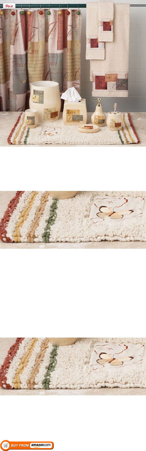 Tranquility Bath Collection   Bath Rug 20Wx30L, Give Your Bathroom A  Makeover With The Beautiful Tranquility Bath Collection. Featuring A Lovely  Design With ...