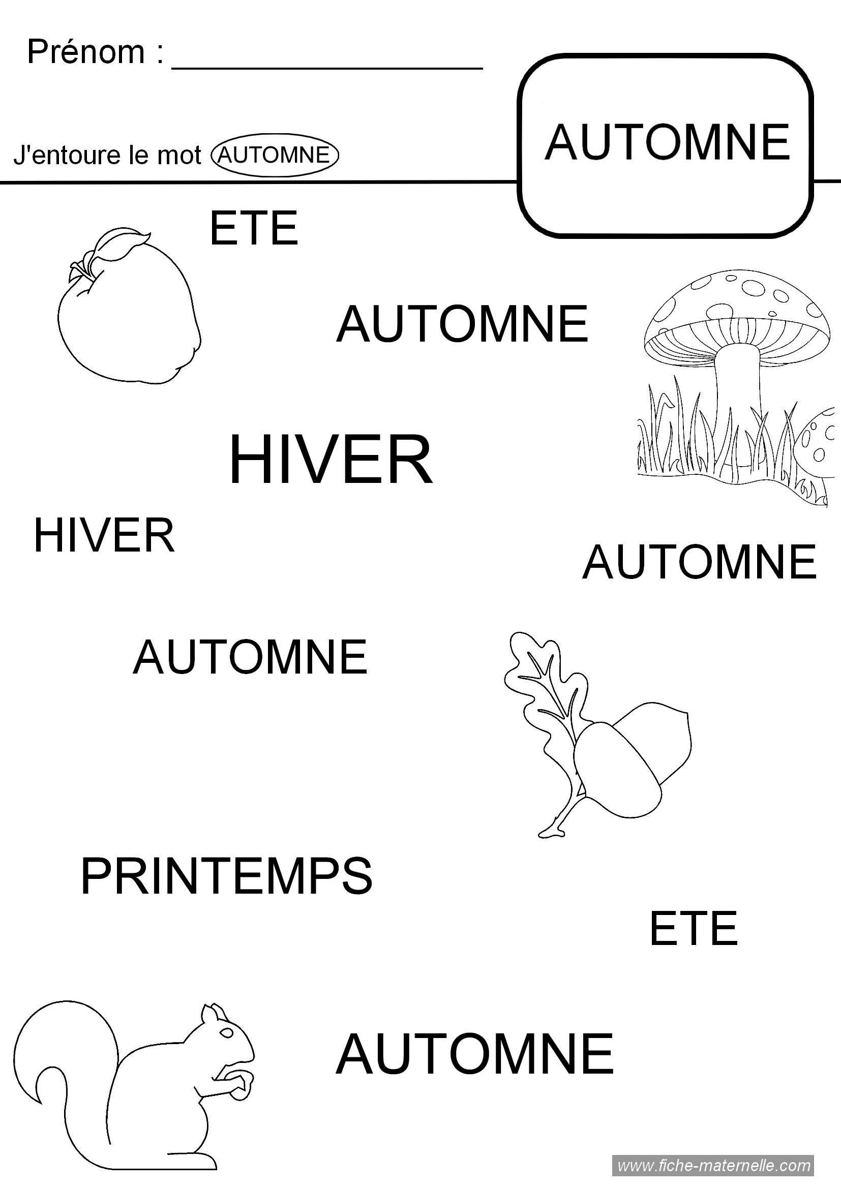 Th me de l 39 automne en maternelle les 4 saisons pinterest maternelle la pomme en - Activite automne maternelle ...