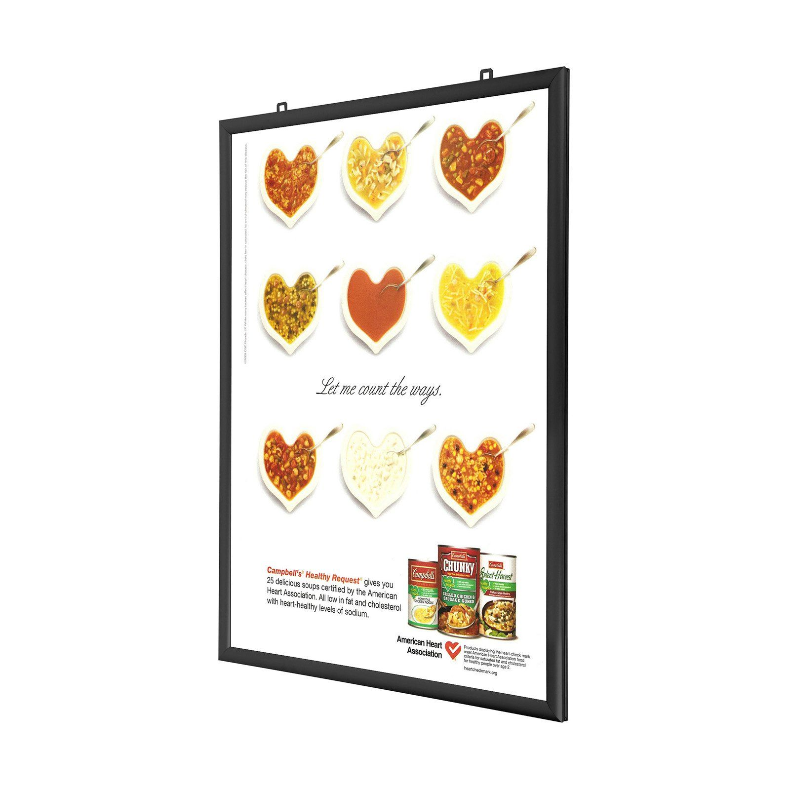 Double-Sided Movie Poster Frame 27x40 Inches, Black SnapeZo 1.25 ...