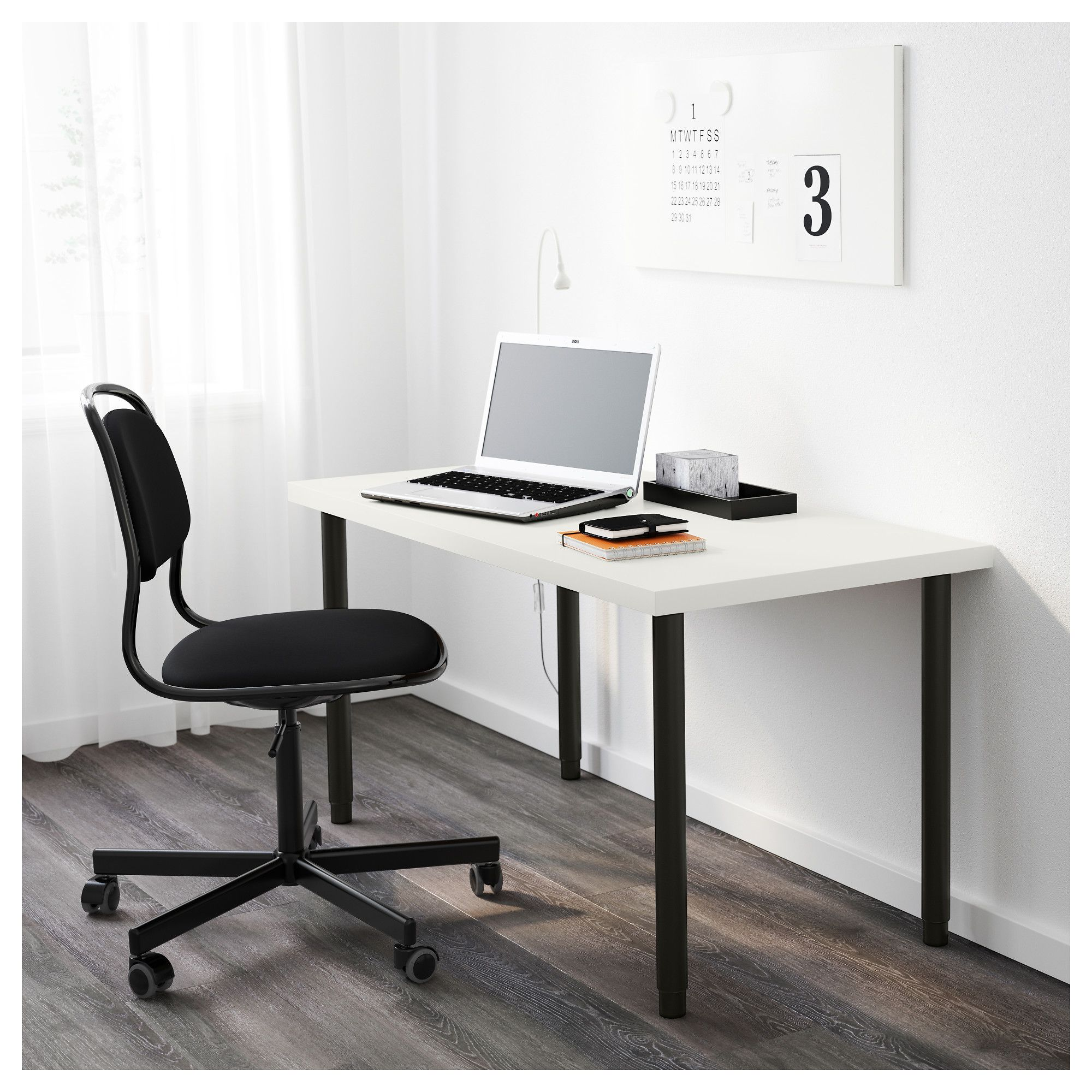 Linnmon Olov Table White Black Ikea Luxury Desk Furniture Home Furnishings
