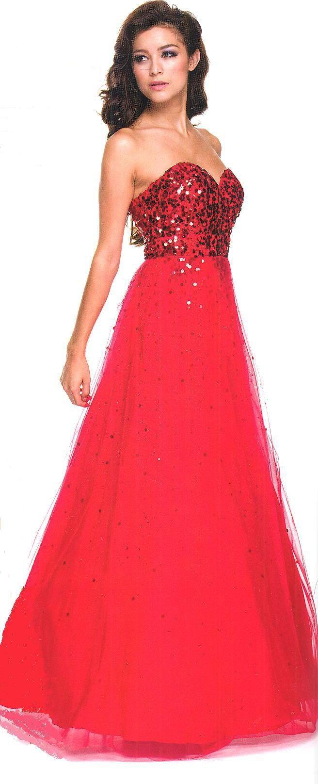Evening dress ball dress red carpet ready fierce red