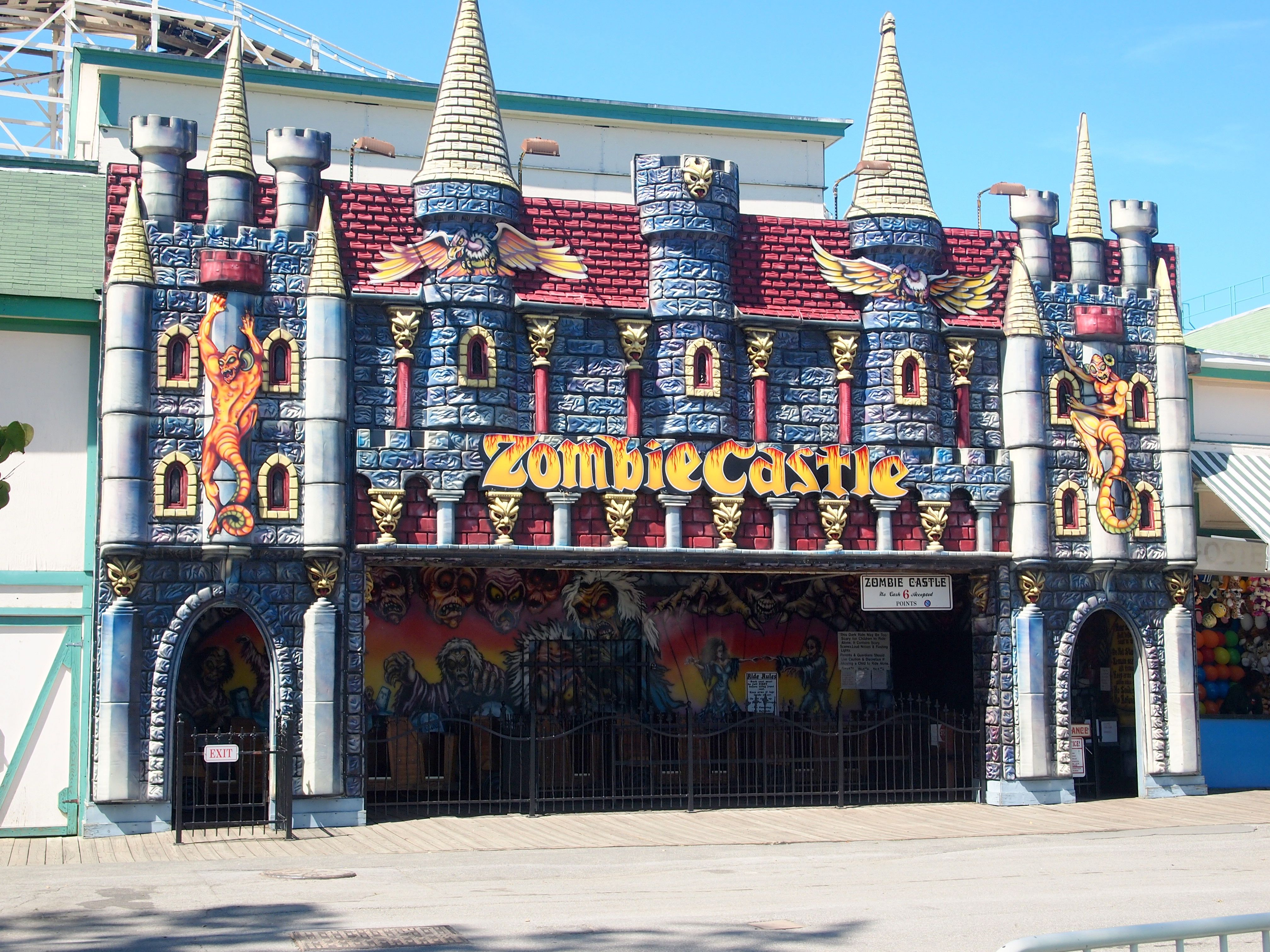 Zombie Castle Rye Playland Ny Dark Ride Facades In