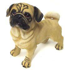 Pug Dog Statue Ornament Garden Sculpture Art BIG *28cm* 1957