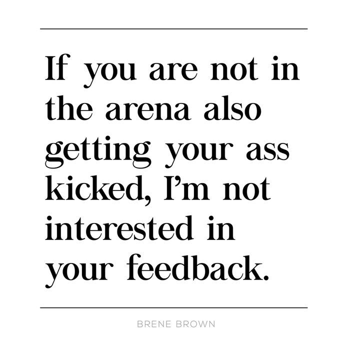 Not In Arena Not Interested Brene Brown Daring Greatly Quote, Man In Arena, Ass Kicked Coffee Mug by Pier23