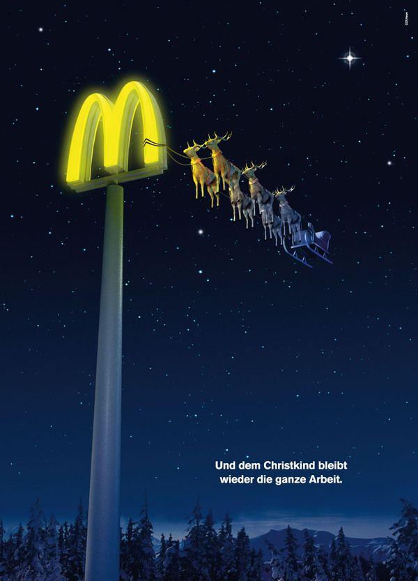 mcdonalds christmas ad advertising print pinterest. Black Bedroom Furniture Sets. Home Design Ideas