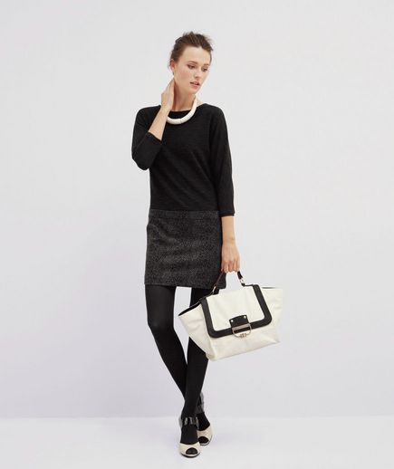 Black, gray, and white. What's not to love about this minimalistic outfit?