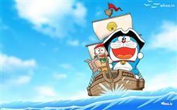 Doraemon Enjoy Boating With Other Character Hd Wallpaper Doraemon