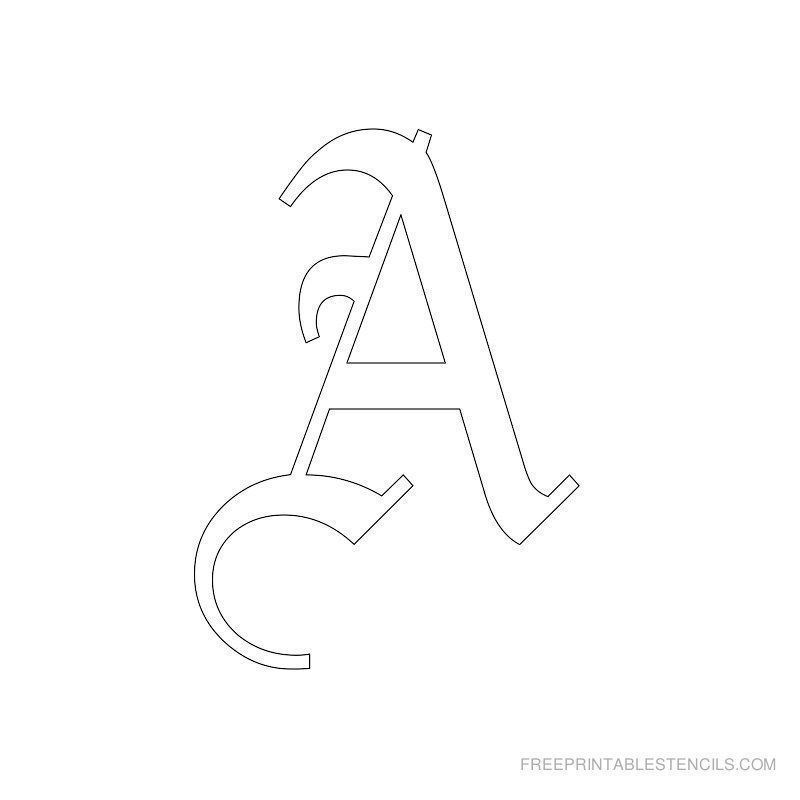 Printable Old English Letter Stencils Free Printable Stencils
