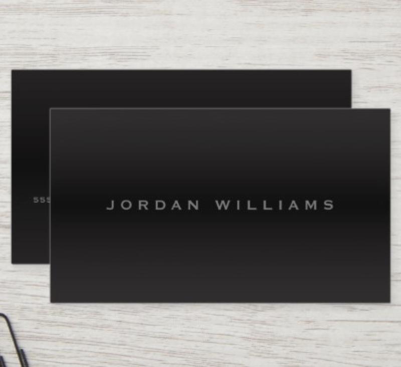Sophisticated Dark Gradient Professional Minimal Business Card Zazzle Com Minimal Business Card Elegant Business Cards Business Cards Elegant