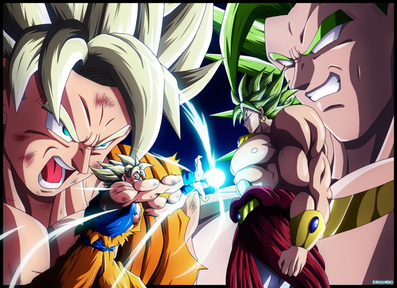 Goku vs broly dragonball z gt af pinterest goku vs - Broly dragon ball gt ...