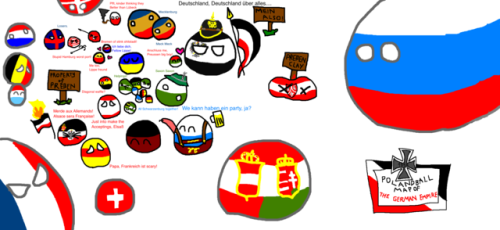 Nice Polandball Map of the German Empire via reddit | Poland/country