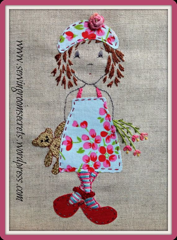 Hand Embroidery Pattern A Pocketful Of Posies Instant Pdf