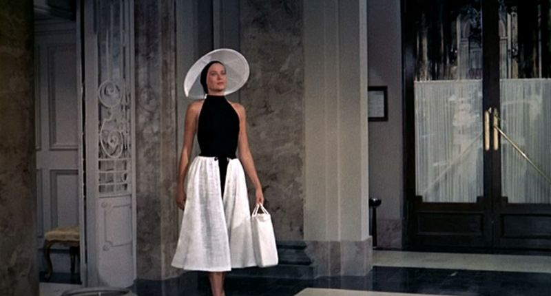 Possibly the most chic beach wear ever.  Grace Kelly in Edith Head/To Catch A Thief.
