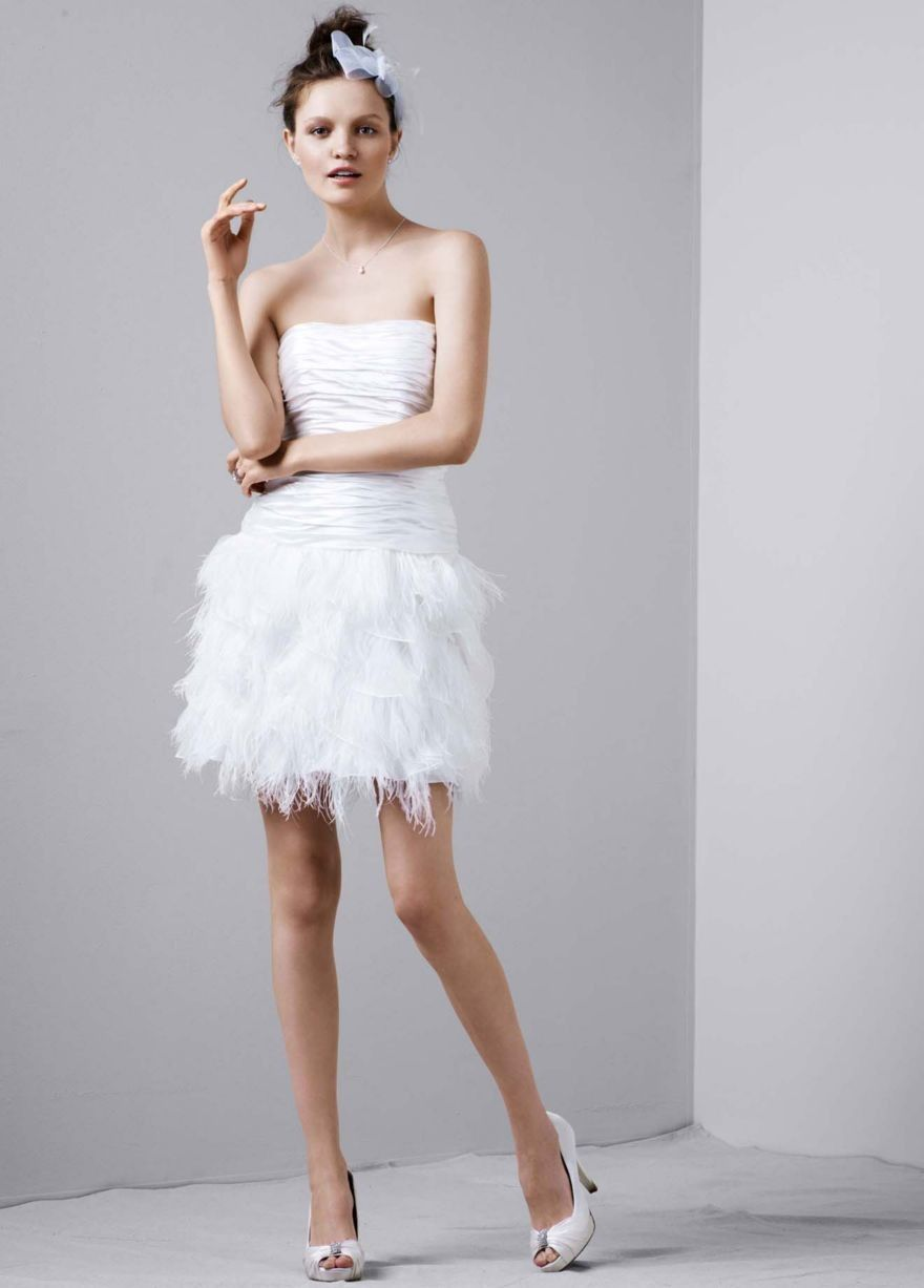 Ruched Charmeuse Gown with Tiered Feathered Skirt Style D3586   Prom ...