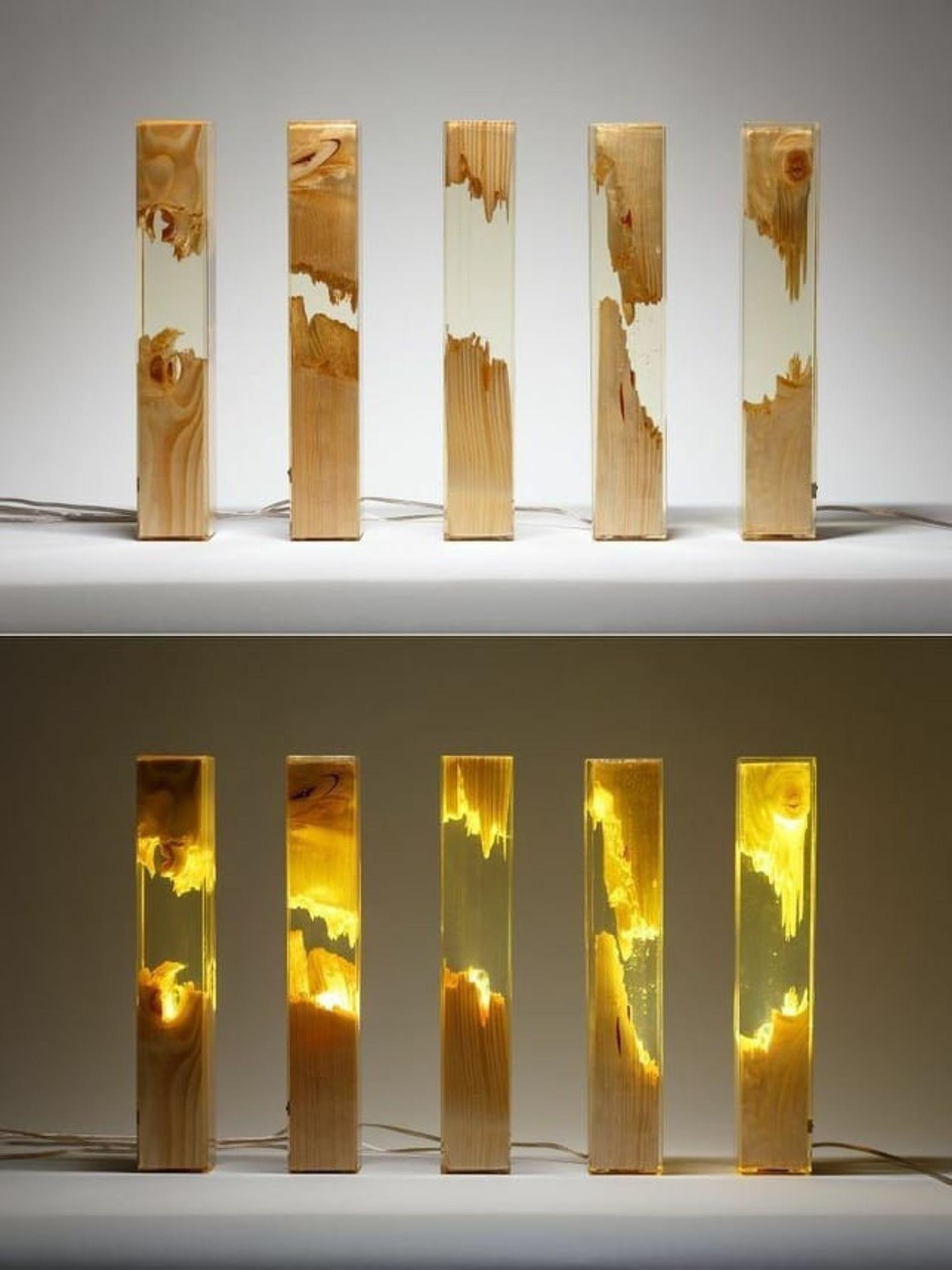 Photo of Epoxy Stehleuchte 122 cm, mehrfarbige, dekorative Lampe, LichtDekoration, HarzLampen, Stehlampen für Haus und Büro, Harz Dekor