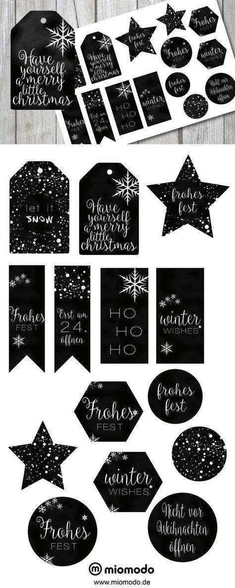 geschenkanh nger zum ausdrucken weihnachten miomodo blog advent diy pinterest christmas. Black Bedroom Furniture Sets. Home Design Ideas