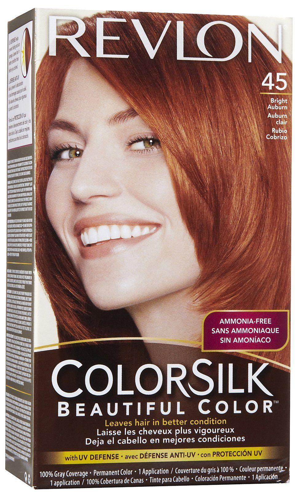 Colorsilk beautiful color 55 light reddish brown by revlon hair color - Revlon Colorsilk Permanent Hair Color Vibrant Red Best Price Bright Auburn Copper Red