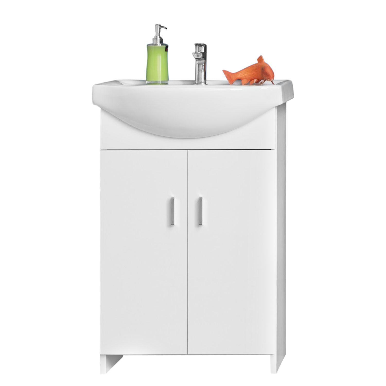 Badezimmerschrank Mit Waschekippe Marlin Badmobel Hochschrank 20