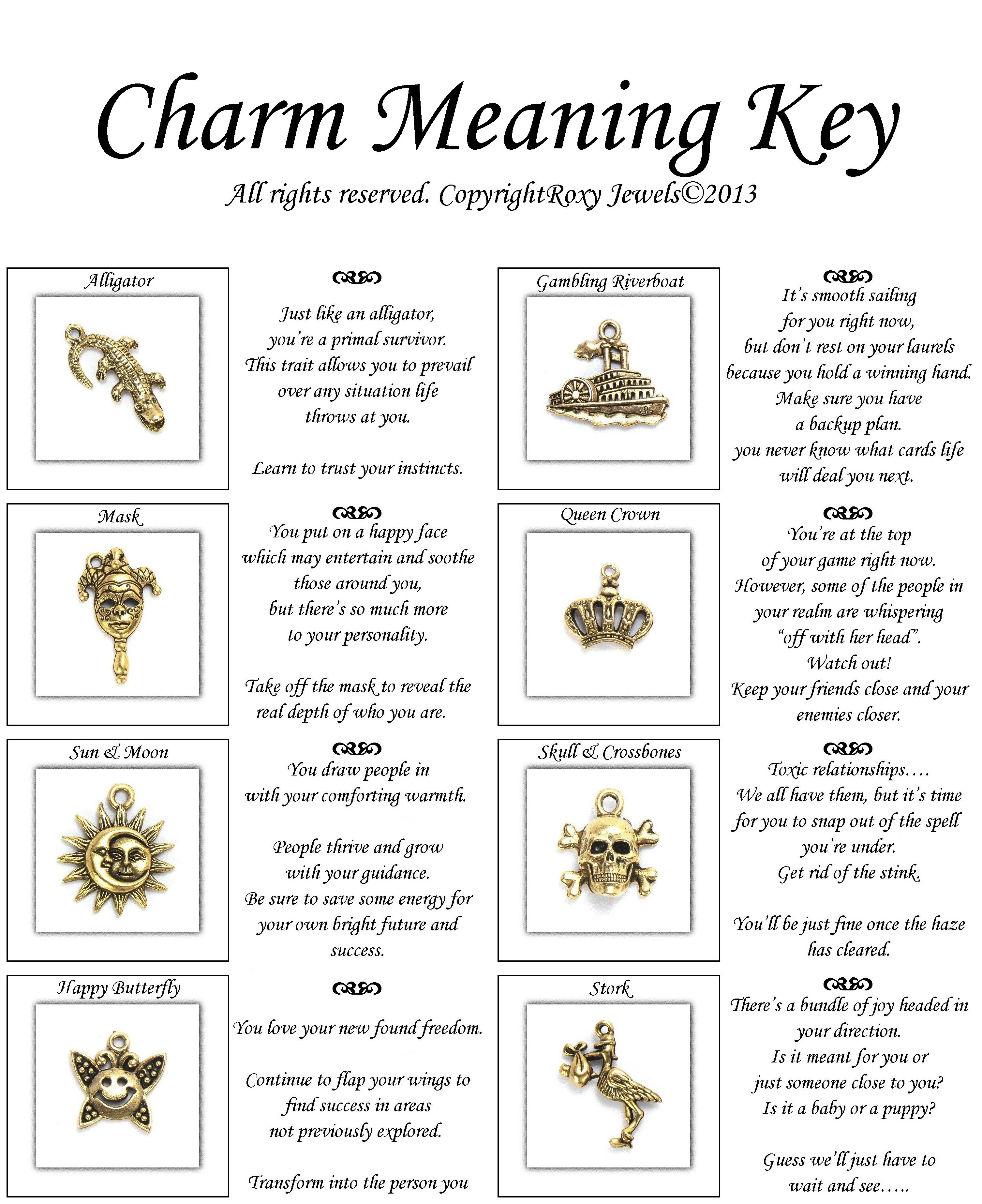Charm Meaning Key For 16 Piece Antique Gold Pewter Set Page 2 Of