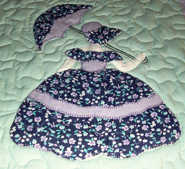 Sunbonnet Sue on a Swing ~ Vintage Applique Quilt Pattern