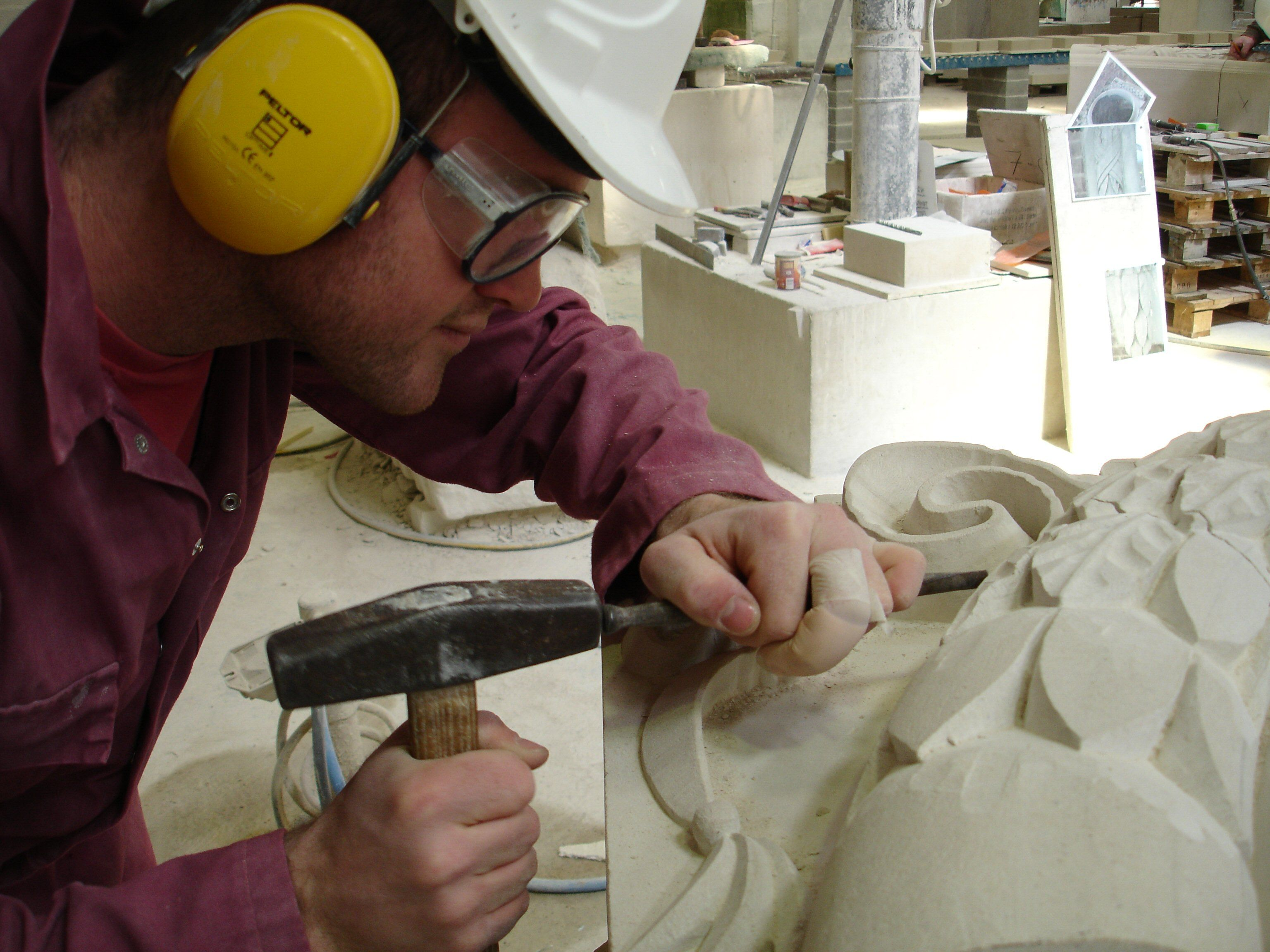 Portland Stone Carving By Albion Stone S Masons Portland Stone Hand Carved Stone Stone Carving