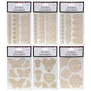 Decorative Puffy Lace Stickers image