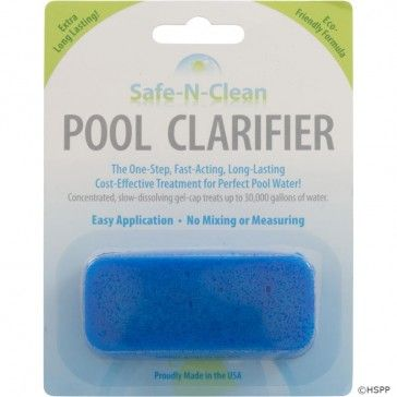 HOW IT WORKS: Safe-N-Clean Pool Clarifier™ begins its fast-acting process immediately after being placed in the strainer basket of your pump. Safe-N-Clean Pool Clarifier™ virtually increases the surface area of your filter by neutralizing microscopic algae, bacteria, and other solids suspended in your water,