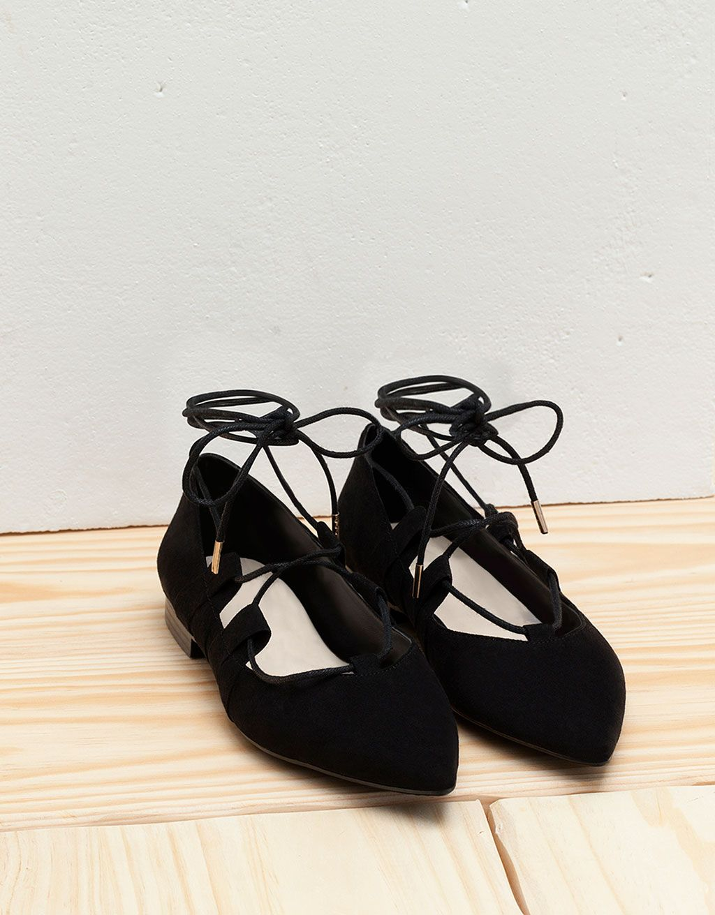 6bc6c60d9 Lace up ballerinas. Discover this and many more items in Bershka with new  products every week