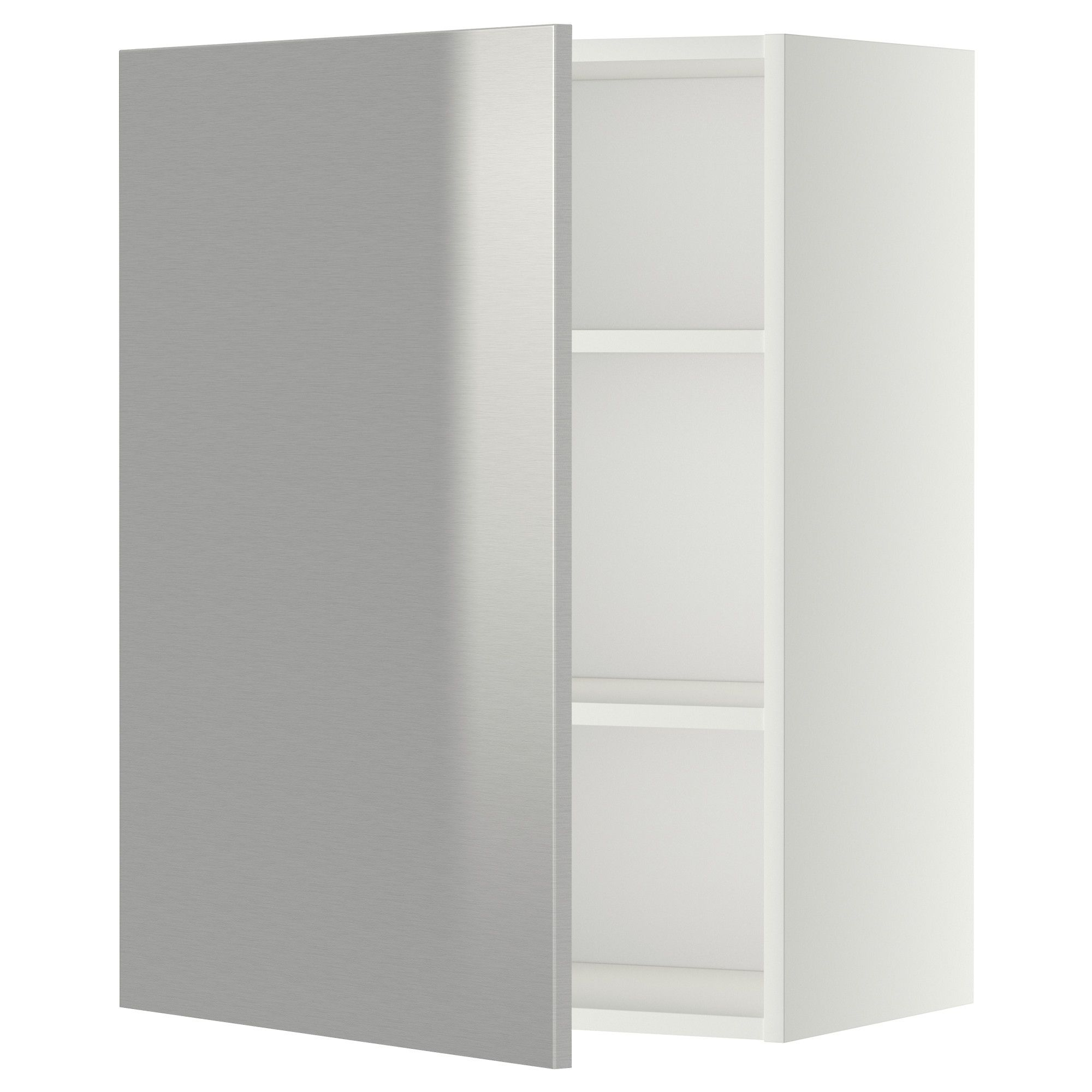 Best Metod Wall Cabinet With Shelves White Grevsta Stainless 400 x 300