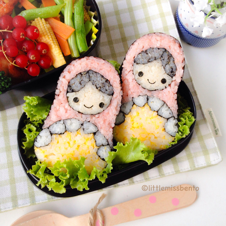 Russian Doll Sushi Art Roll Bento