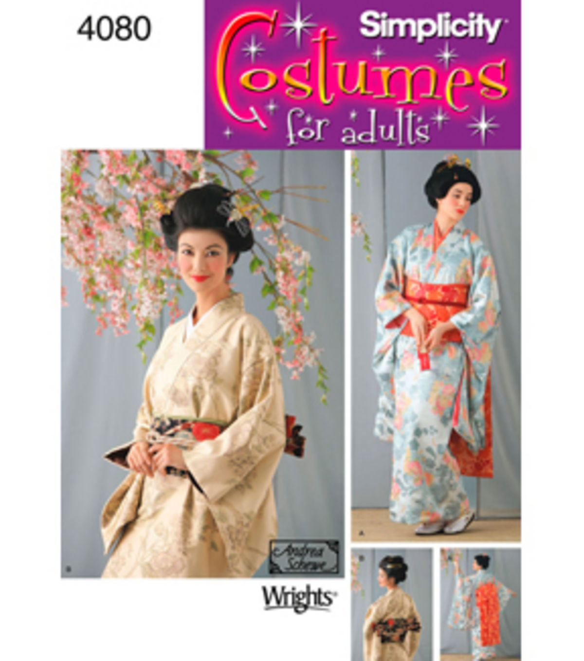 Dress  Sewing  Pattern  4080 14-16-18-20- kimono Simplicity- Geisha