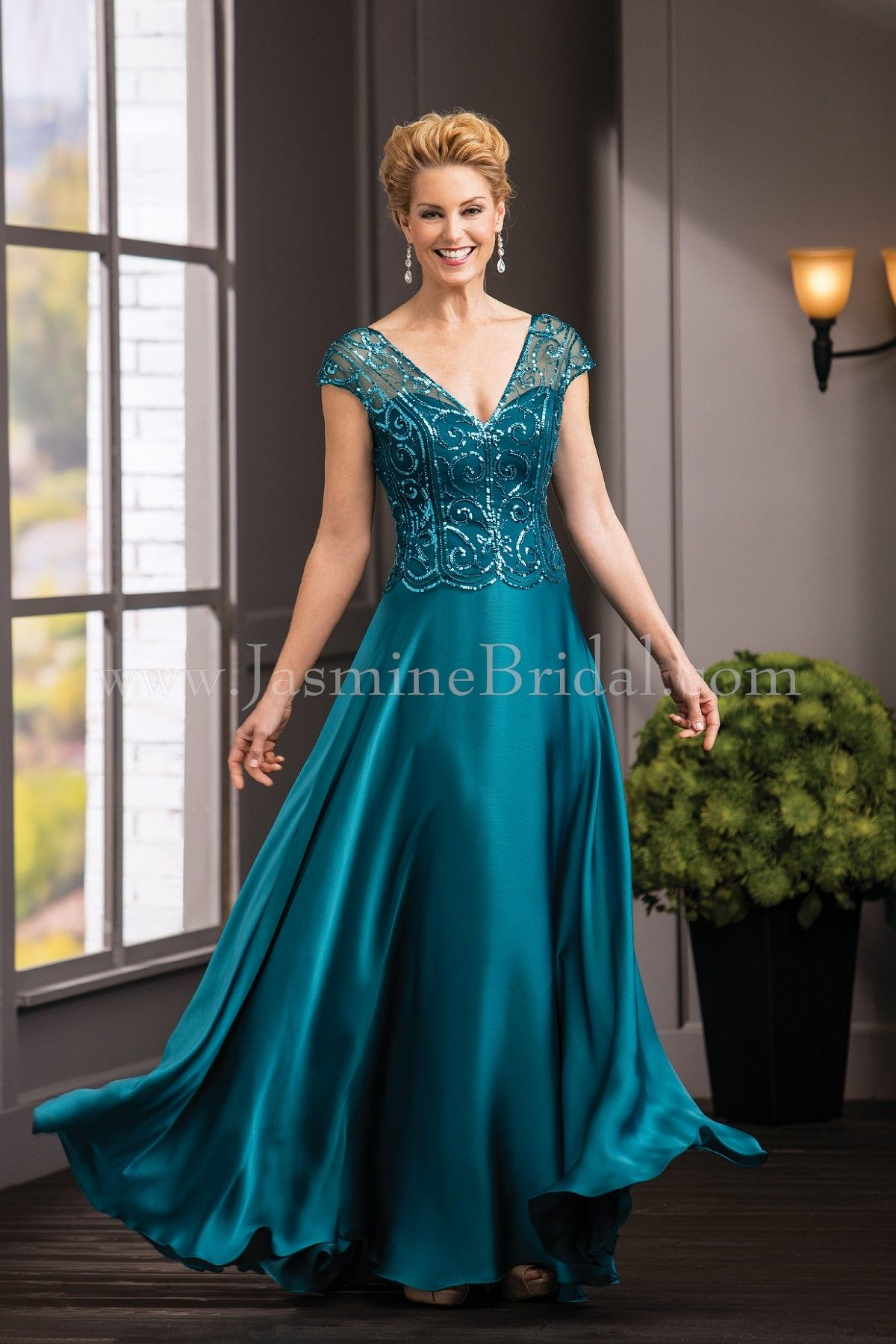 Jasmine Bridal Jade Couture Style K188056 in New Teal | Fall 2016 ...