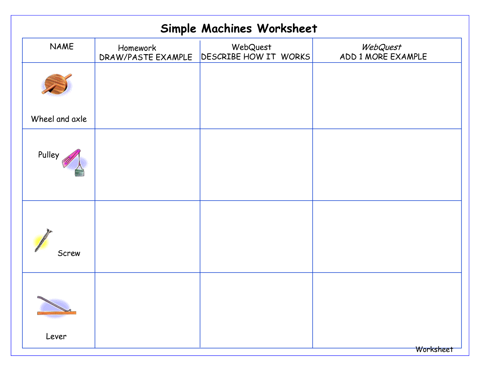 worksheet Work And Simple Machines Worksheet simple machines worksheet and video for students to watch kids compound pdf
