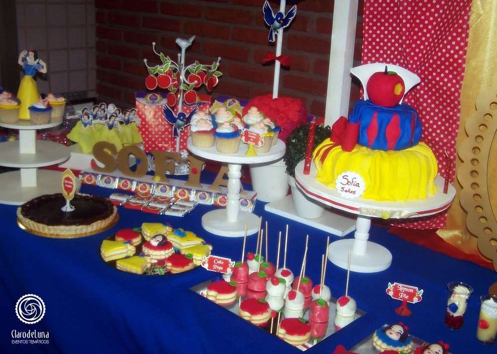 Snow White Birthday Party Dessert Table See More Party Planning