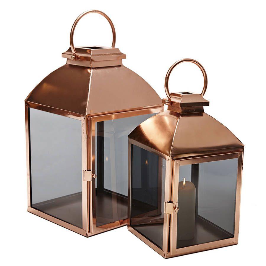 Copper Lantern Copper lantern Copper accents and Concrete