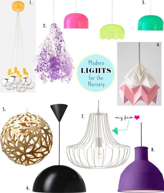 Modern Pendant Lights For Your Nursery Spearmint Baby