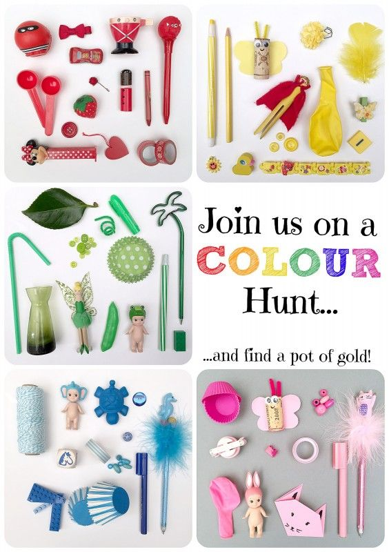 Rainbow Colour Hunt - Rainy Day Activity. We had SO Much fun doing this Rainbow Colour Hunt! The best bit, is that it requires NO SET UP AT ALL. This is also great for a parent who is poorly or needs a rest for whatever reason - get the kids off and find things. And you MAY just find a pot of gold at the end. Great for Rainy Days or St Patrick's Day or just to fill and 10min or 60min here and there!