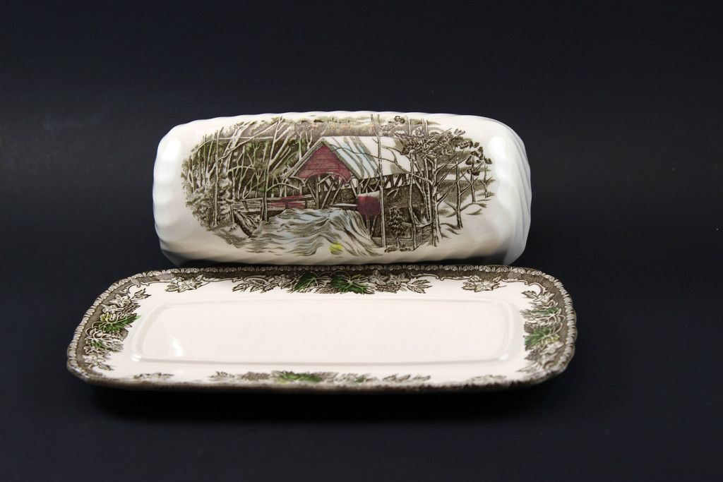 Johnson Brothers The Friendly Village Covered Butter Dish & Johnson Brothers The Friendly Village Covered Butter Dish ...
