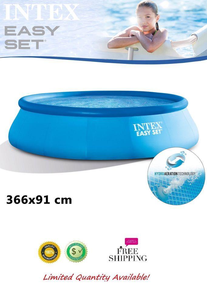 Schwimmbad Schwimmbecken Ersatzpool Swimming Pool Rund 366x91cm ...