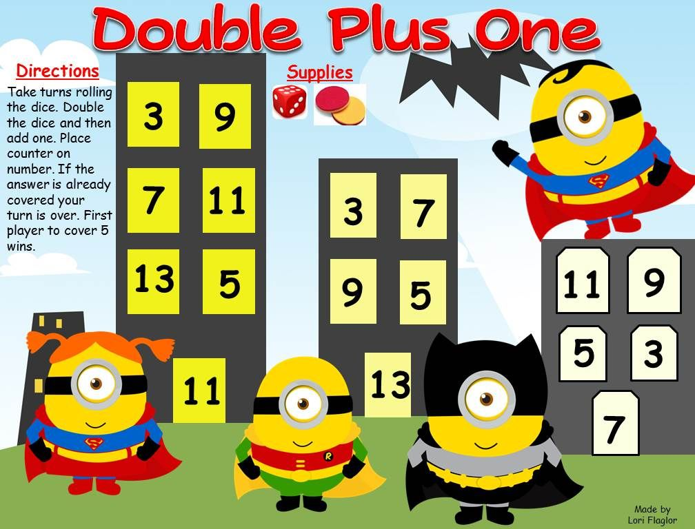Your little super heroes will love practicing their basic facts - double first