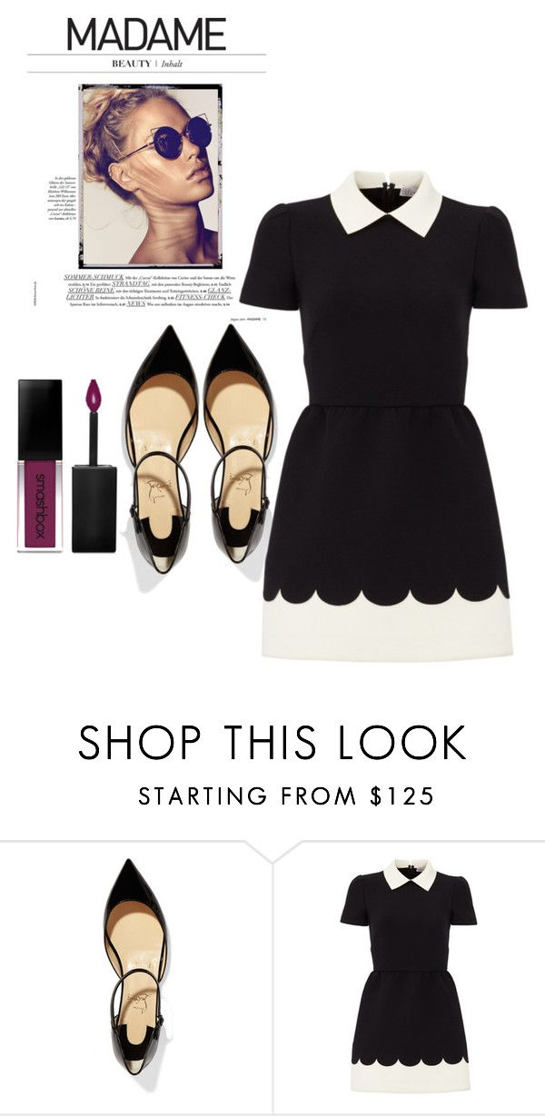 """""""Untitled #4092"""" by mariaisabel701 ❤ liked on Polyvore featuring Christian Louboutin, RED Valentino and Smashbox"""