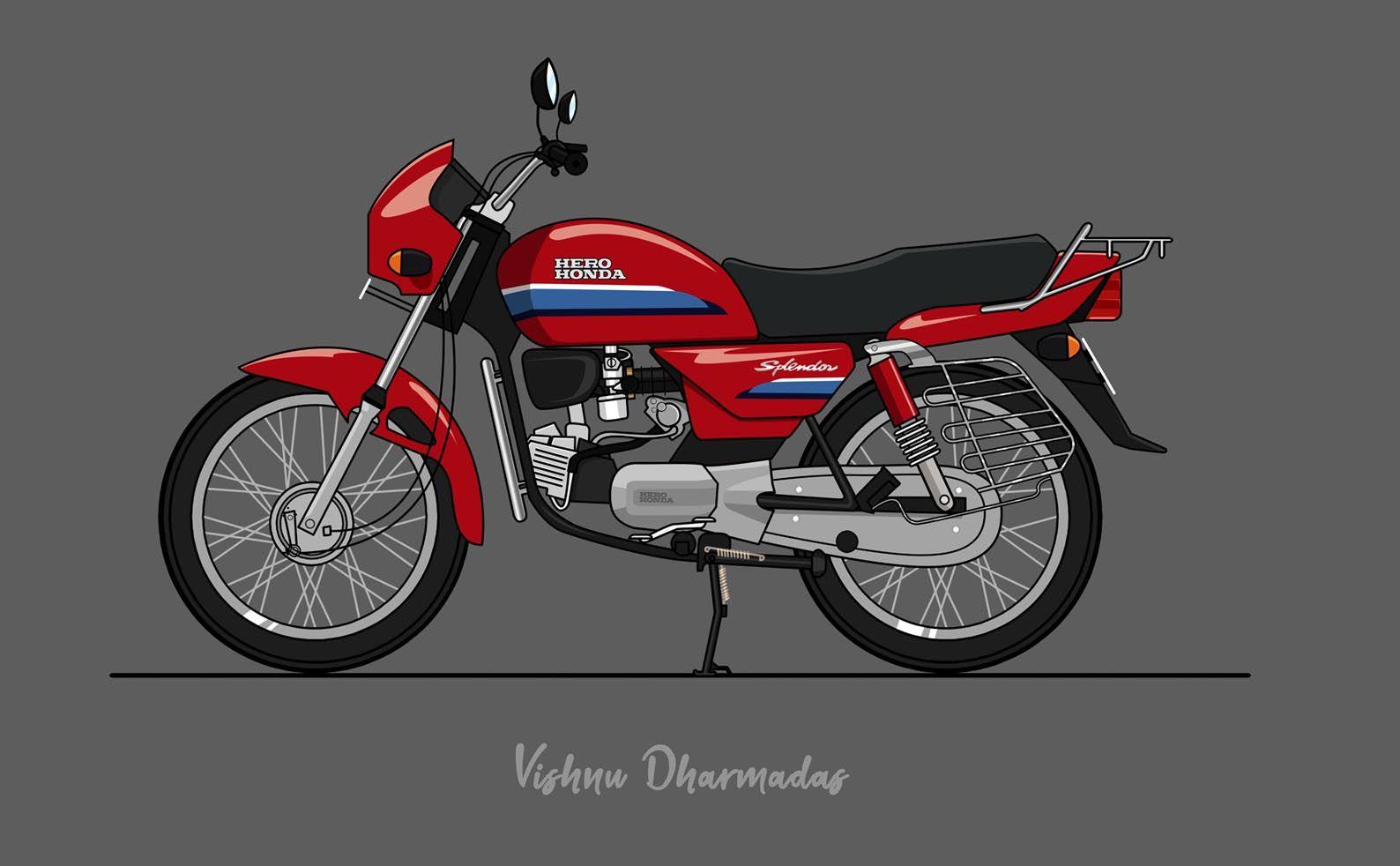Hero Honda Splendor Is A 1994 Model Indian Motor Cycle
