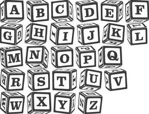 alphabet blocks font   Bing images | school | Block fonts, Block