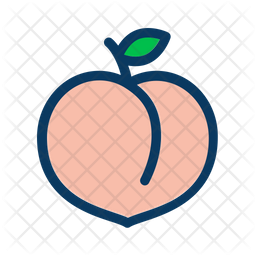 Peach Icon Of Colored Outline Style Available In Svg Png Eps Ai Icon Fonts Peach Art Easy Drawings Peach